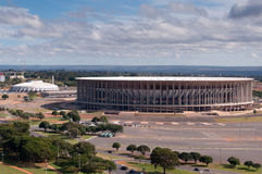 Estadio de fútbol en Brasilia Fotos de archivo