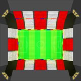 Estadio de fútbol en el estilo británico Fotografía de archivo libre de regalías