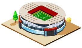 Estadio de fútbol isométrico stock de ilustración