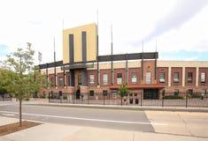Estadio de fútbol de la universidad en Boulder imagen de archivo libre de regalías
