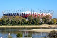 Estadio de fútbol nacional Fotografía de archivo libre de regalías