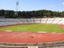 Estadio de fútbol vacío Foto de archivo libre de regalías