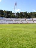 Estadio de fútbol vacío Imágenes de archivo libres de regalías
