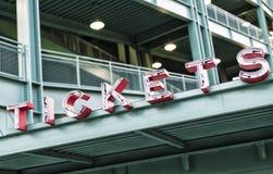 Estadio de Fenway Park fotografía de archivo