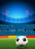 Estadio de fútbol Fotografía de archivo libre de regalías