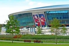 Estadio de fútbol de Donbass-Arena.New para Euro-2012. Foto de archivo libre de regalías