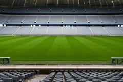 Estadio de fútbol vacío Fotos de archivo libres de regalías