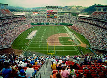 Estadio de Jack Murphy, San Diego, CA Fotos de archivo libres de regalías