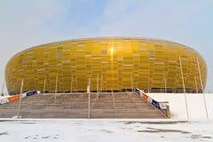 Estadio de la arena de PGE en Gdansk Imágenes de archivo libres de regalías