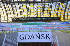 Estadio de la arena de PGE en Gdansk, Polonia Imágenes de archivo libres de regalías