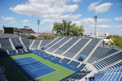 Estadio de la gradería cubierta en Billie Jean King National Tennis Center durante el US Open 2014 Imagen de archivo