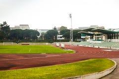 Estadio de la universidad, Lisboa, Portugal: visión general desde el norte Imágenes de archivo libres de regalías
