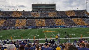 Estadio de la universidad de Virginia Occidental imagen de archivo