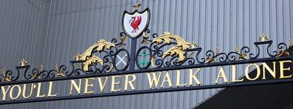 Estadio de Liverpool Imágenes de archivo libres de regalías
