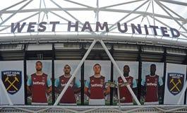 Estadio de Londres - detalle del exterior fotografía de archivo
