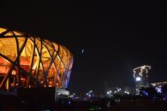 Estadio de los deportes de la jerarquía del ` s del pájaro de Pekín foto de archivo