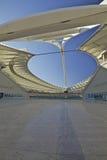 Estadio de Moses Mabhida, taza de mundo del fútbol 2010 Imágenes de archivo libres de regalías