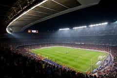 Estadio de Nou del campo, Barcelona Imágenes de archivo libres de regalías