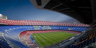 Estadio de Nou del campo en Barcelona (panorama) Imagenes de archivo