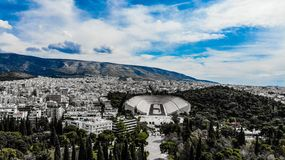 Estadio de Panathenaic imagen de archivo