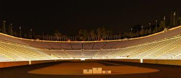 Estadio de Panathenaic en la noche imagen de archivo libre de regalías