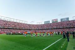 Estadio de Ramon Sanchez Pizjuan foto de archivo libre de regalías