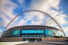 Estadio de Wembley en Londres, Reino Unido fotografía de archivo libre de regalías