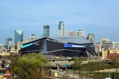 Estadio del banco de los E.E.U.U. de los Minnesota Vikings en Minneapolis Fotografía de archivo libre de regalías