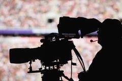 Estadio del cameraman Imágenes de archivo libres de regalías