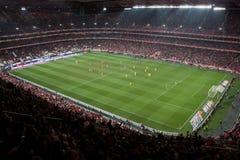 Estadio del juego de fútbol Fotos de archivo libres de regalías