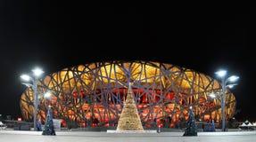 Estadio del nacional de las Olimpiadas de China Imagenes de archivo