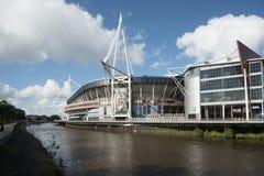 Estadio del nacional de País de Gales Fotografía de archivo libre de regalías