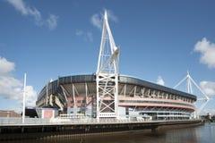 Estadio del nacional de País de Gales foto de archivo libre de regalías