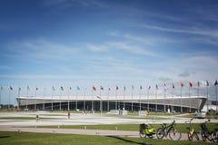 estadio del patinaje de velocidad de la Adler-arena en XXII los juegos de olimpiada de invierno Foto de archivo