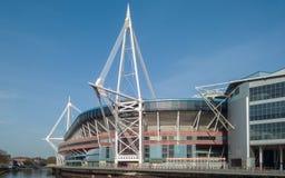 Estadio del principado en Cardiff, País de Gales Imágenes de archivo libres de regalías