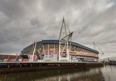 Estadio del principado, País de Gales Imagen de archivo libre de regalías