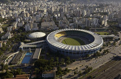 Estadio do Maracana - Maracana-Stadion - Rio de Janeiro - Brazilië Royalty-vrije Stock Afbeelding