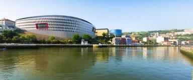 Estadio en Bilbao españa fotografía de archivo libre de regalías