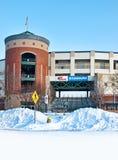 Estadio en invierno Fotos de archivo libres de regalías