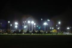 Estadio en la noche Fotos de archivo