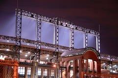 Estadio en la noche   Imagen de archivo