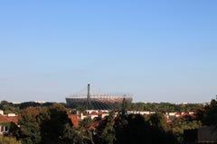 Estadio en Varsovia Polonia foto de archivo