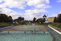 Estadio en Yaroslavl foto de archivo