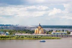 Estadio-FIFA-mundo-taza-Nizhniy-Novgorod 2017 Foto de archivo libre de regalías