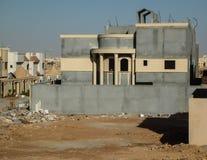Estadio final de la construcción de viviendas Foto de archivo libre de regalías