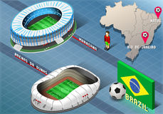 Estadio isométrico de natal y de Rio De Janeiro, el Brasil Fotos de archivo