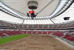 Estadio nacional en Varsovia Imagenes de archivo