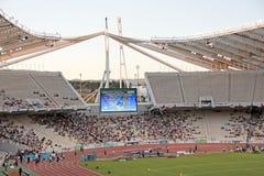 Estadio olímpico de Atenas durante acontecimiento Fotos de archivo libres de regalías