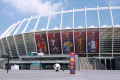 Estadio olímpico de Kiev a la hora del EURO 2012 Fotografía de archivo libre de regalías