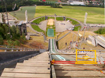 Estadio olímpico de Lillehammer Imagen de archivo